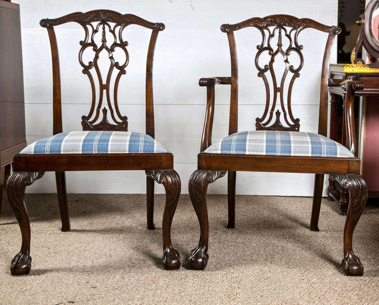 Set of Eight Chippendale Dining Chairs with Ball and Claw  : B from www.1stdibs.com size 1280 x 1030 jpeg 206kB