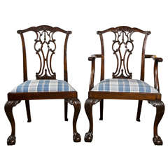 Set Of Eight Chippendale Dining Chairs With Ball And Claw Feet At 1stdibs