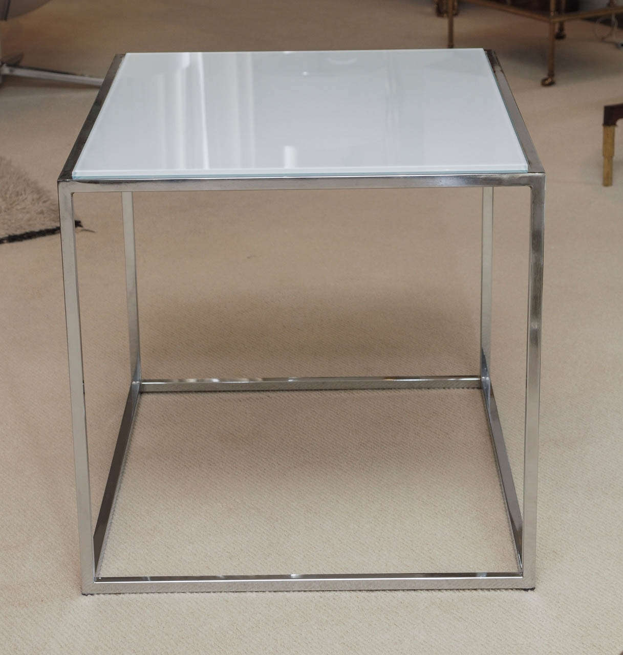 Pair thin line side tables by milo baughman at 1stdibs for Thin side table