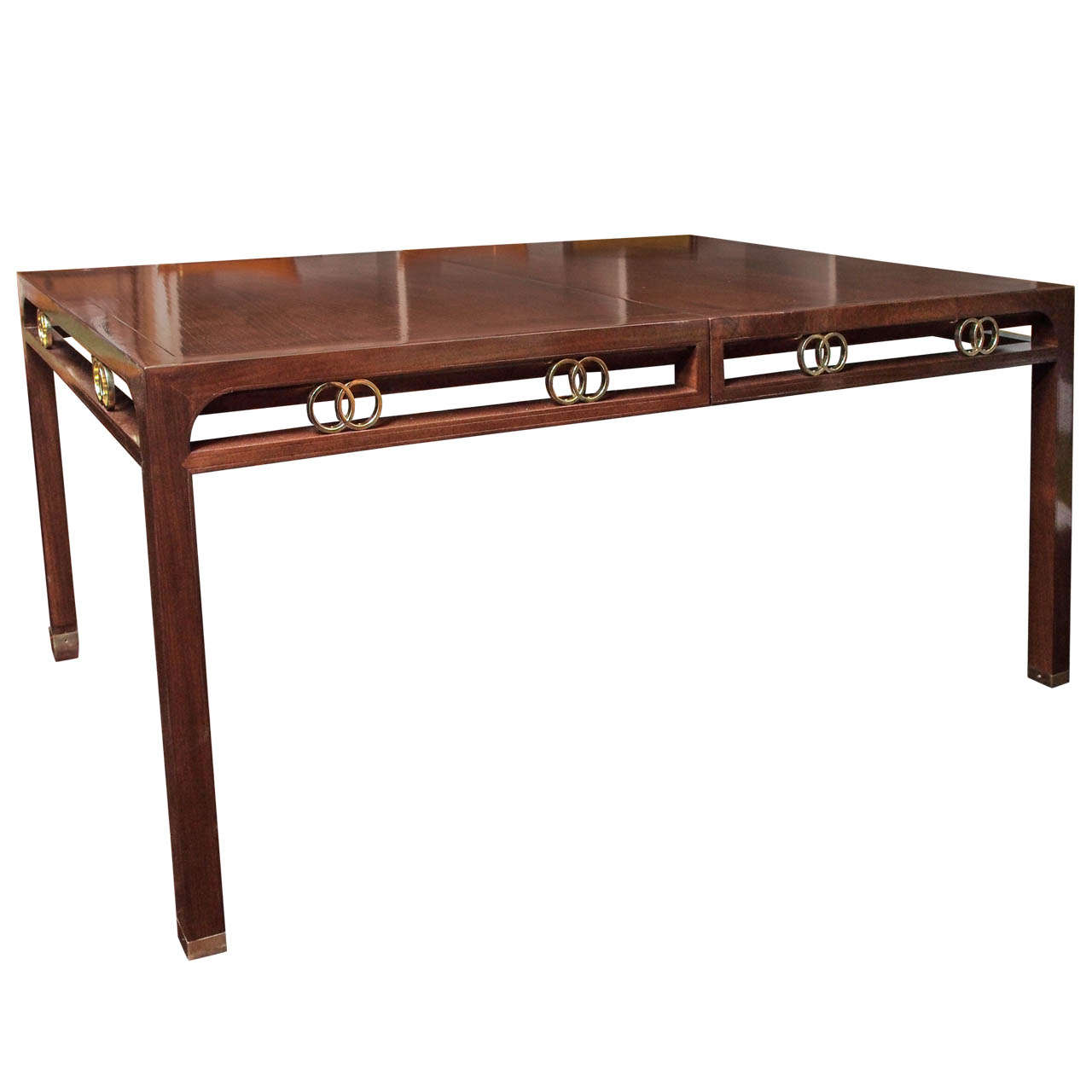 Saturday Sale Walnut Dining Table After Michael Taylor Circa 1960s At 1stdibs