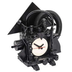 Postmodern Richard Birkett Fantasy Clock Louise Nevelson Style