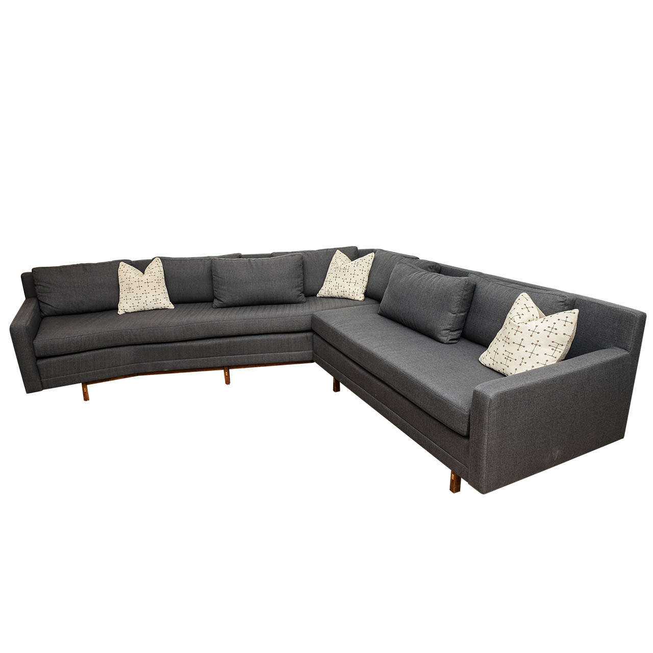 Paul mccobb sleek mid century modern vintage sectional for New sectional sofa
