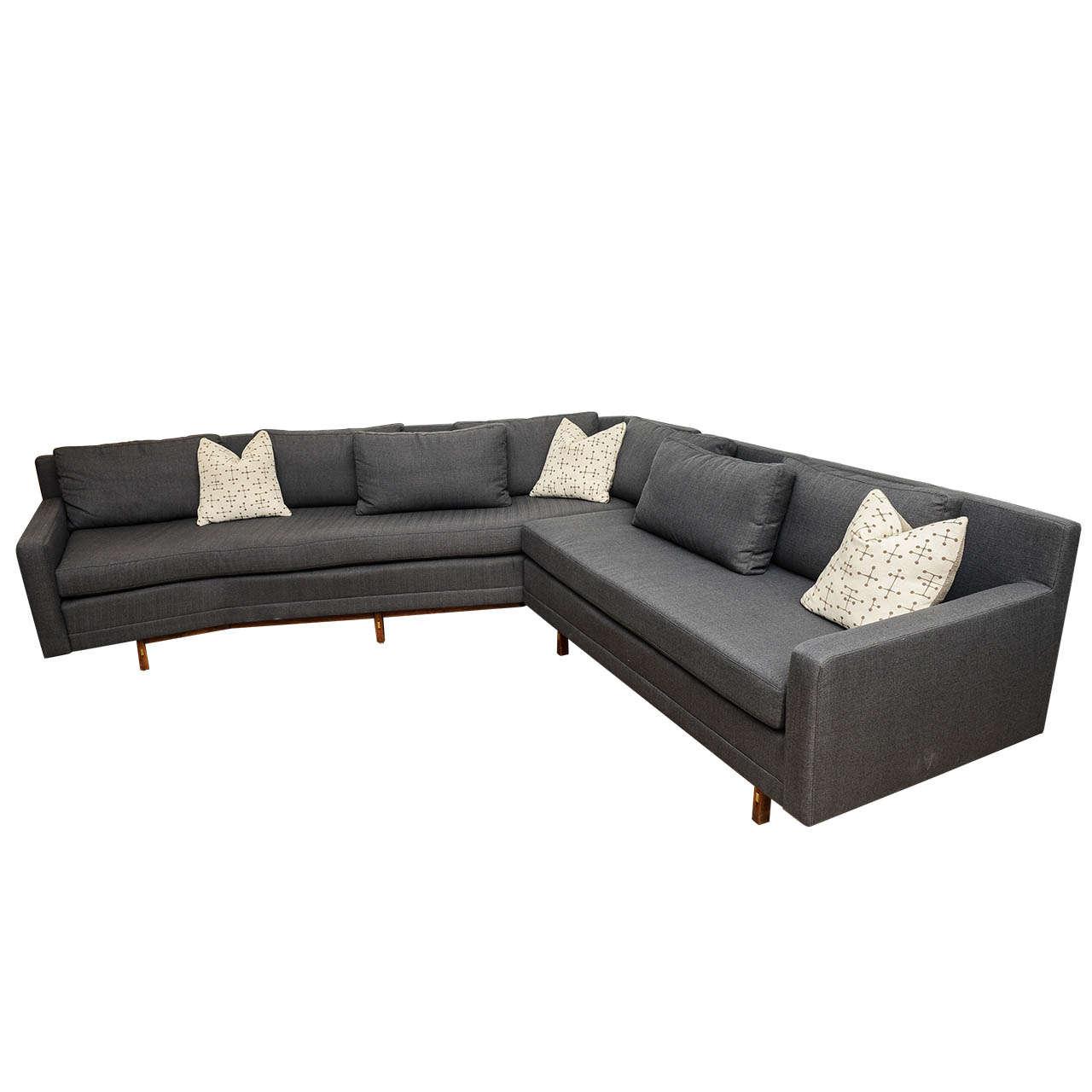 Vintage Mid Century Modern Sofa: Paul McCobb Sleek Mid-Century Modern Vintage Sectional