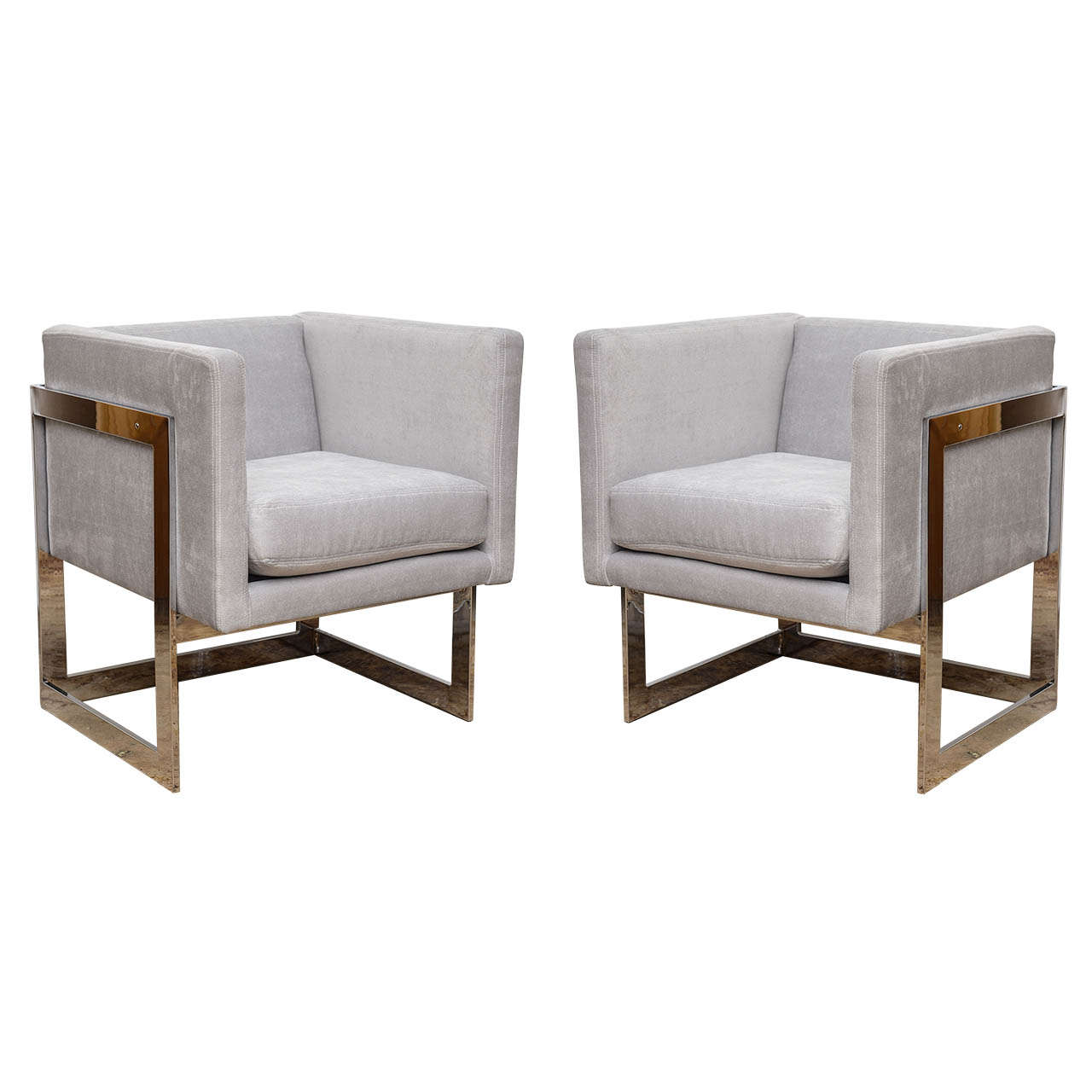 Cube Chairs by Milo Baughman for Thayer Coggin at 1stdibs