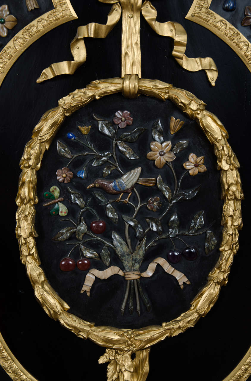 Large French Pietra-Dura Cabinet, 19th Century In Good Condition For Sale In Brighton, Sussex