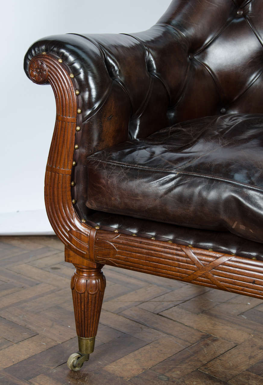 Pair of 19th Century Library Chairs In Good Condition For Sale In Brighton, Sussex