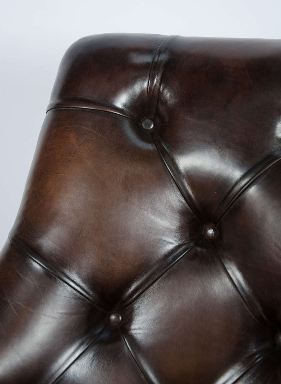 Hide Pair of 19th Century Library Chairs For Sale