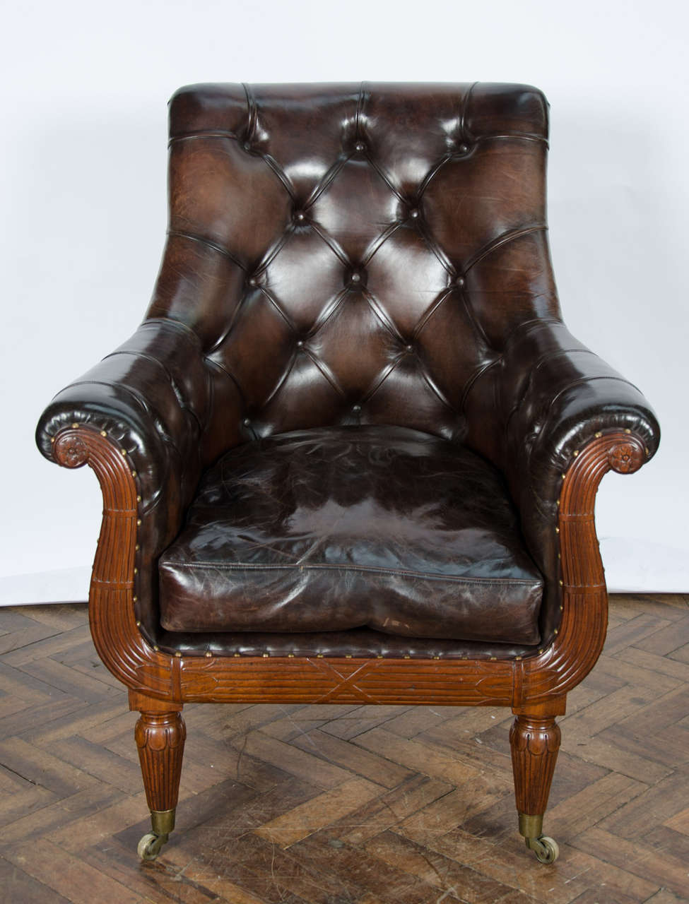 Pair of 19th Century Library Chairs For Sale 2