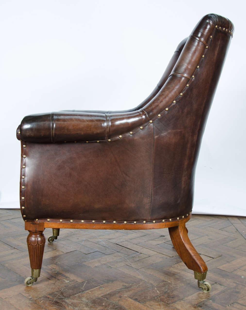 Pair of 19th Century Library Chairs For Sale 4