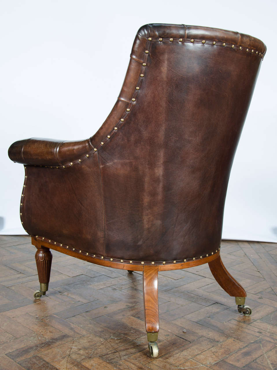 Pair of 19th Century Library Chairs For Sale 5