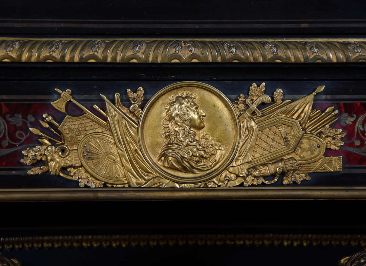 Inlay Fine Quality Antique Boulle Style Side Cabinet For Sale