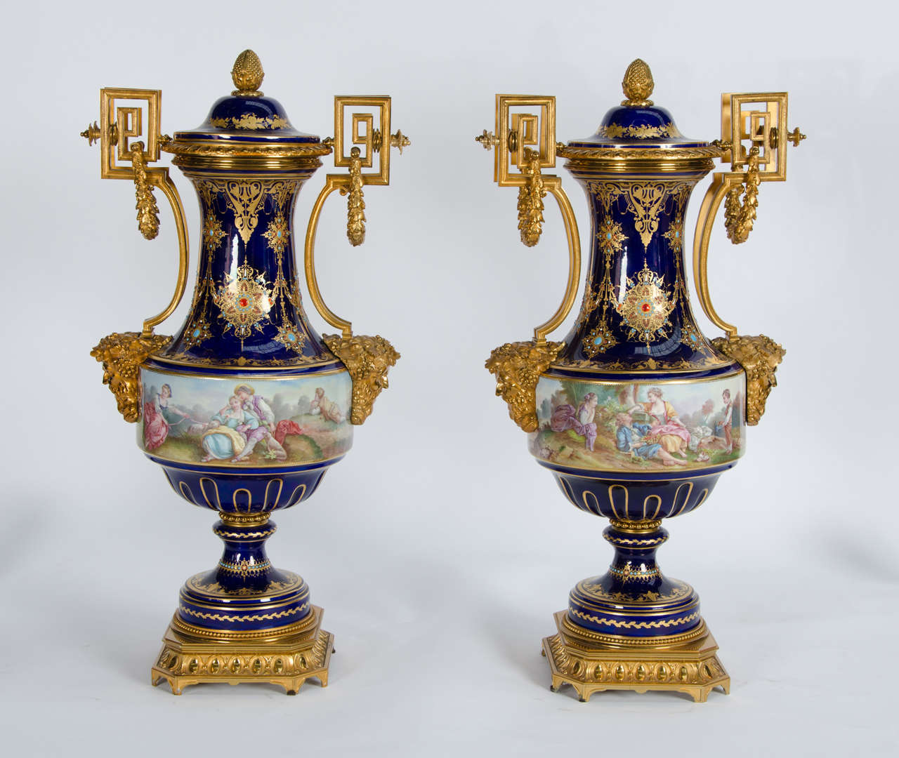 Pair Of Antique Sevres Vases At 1stdibs