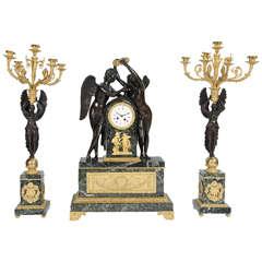 Large French Clock Garniture