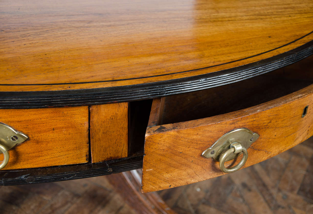 Large, rare Anglo-Indian  Center Table, circa 1820. 62.5