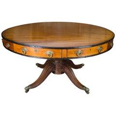 "Large, rare Anglo-Indian  Center Table, circa 1820. 62.5"" diameter (158cm)"