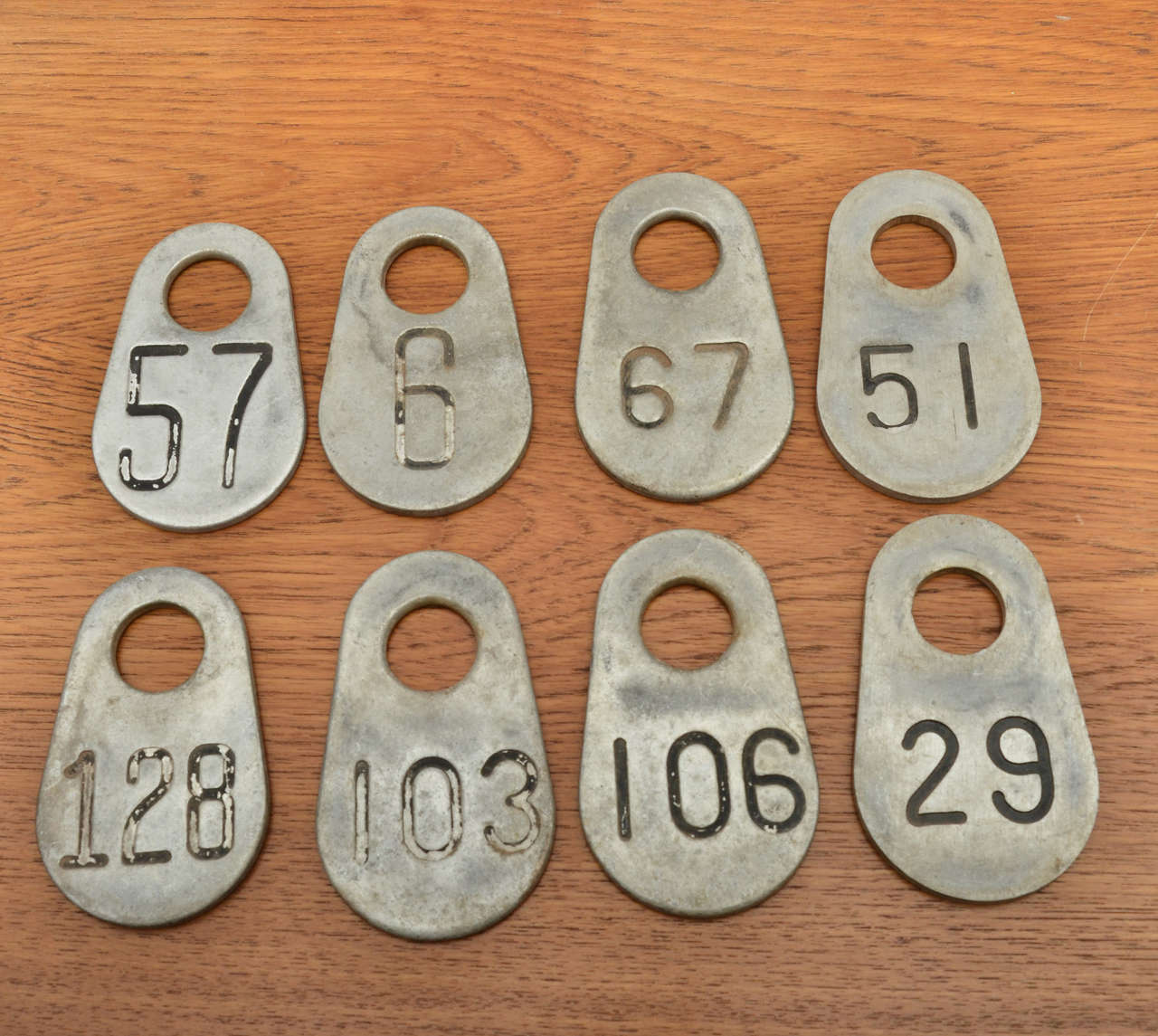 Set of Vintage Cattle Tags 2