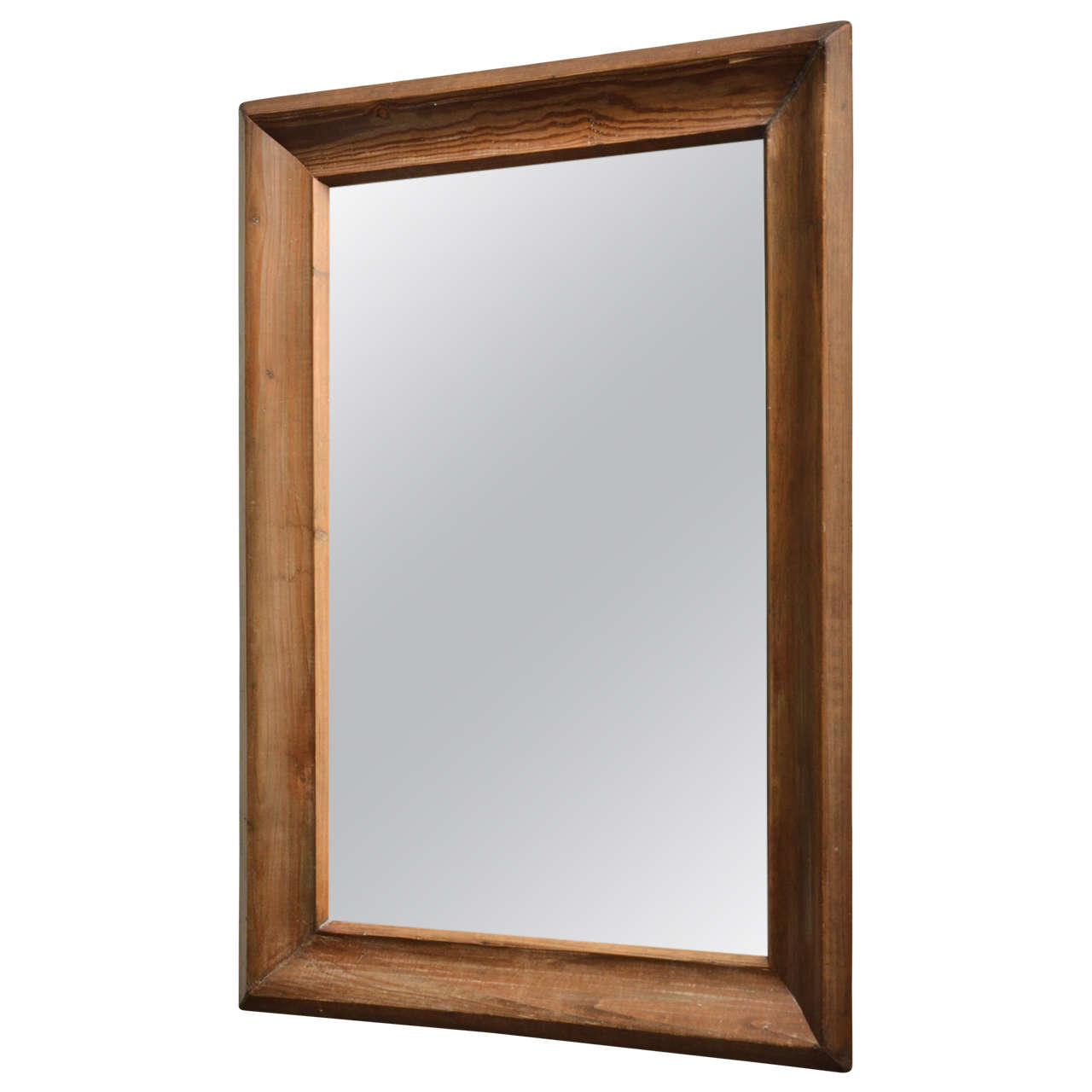 Wooden framed mirror at 1stdibs for Wooden mirror