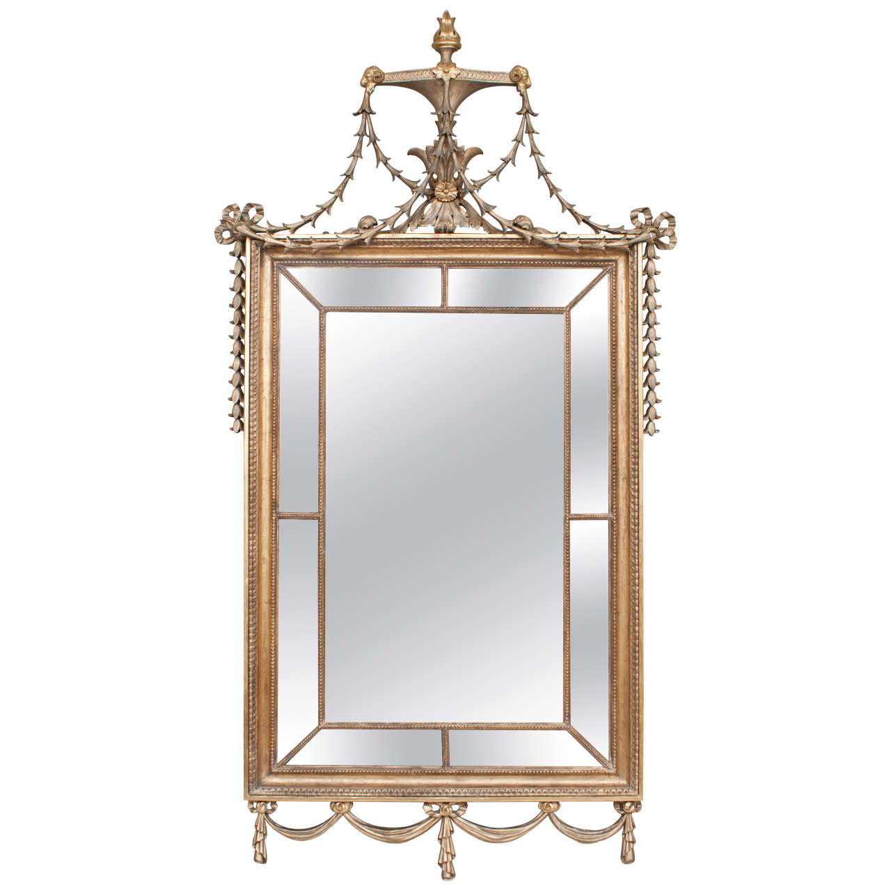 English Regency Adam Style Giltwood Mirror, circa 1815