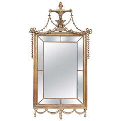 English Regency Adam Style Giltwood Mirror, circa 1815