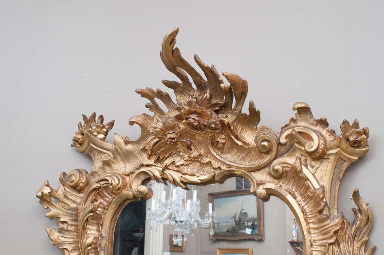 This italian circular wooden wall mirror is no longer available - Venetian Style Rococo Gilt Mirror Italy Circa 1895 At