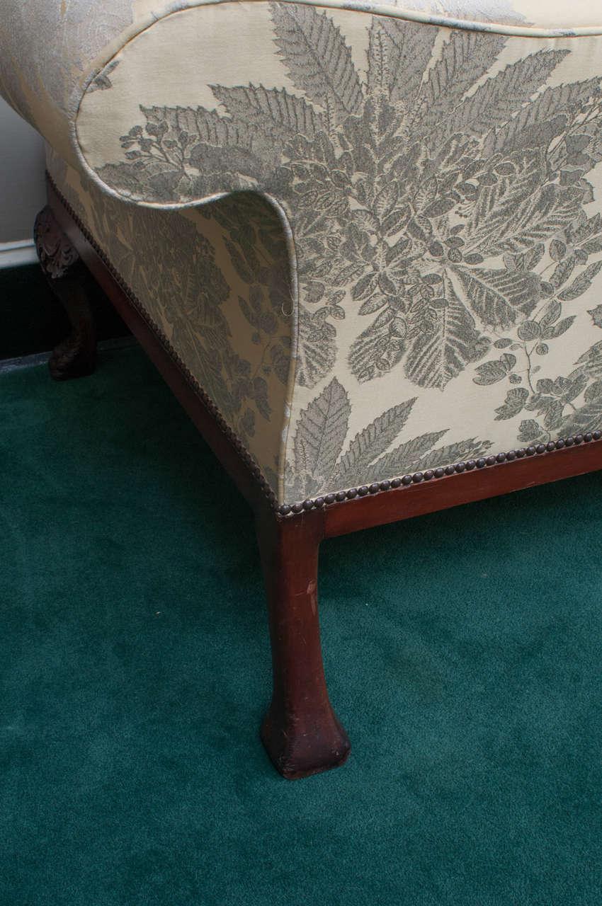 Large Georgian Style Chippendale Camelback Sofa England