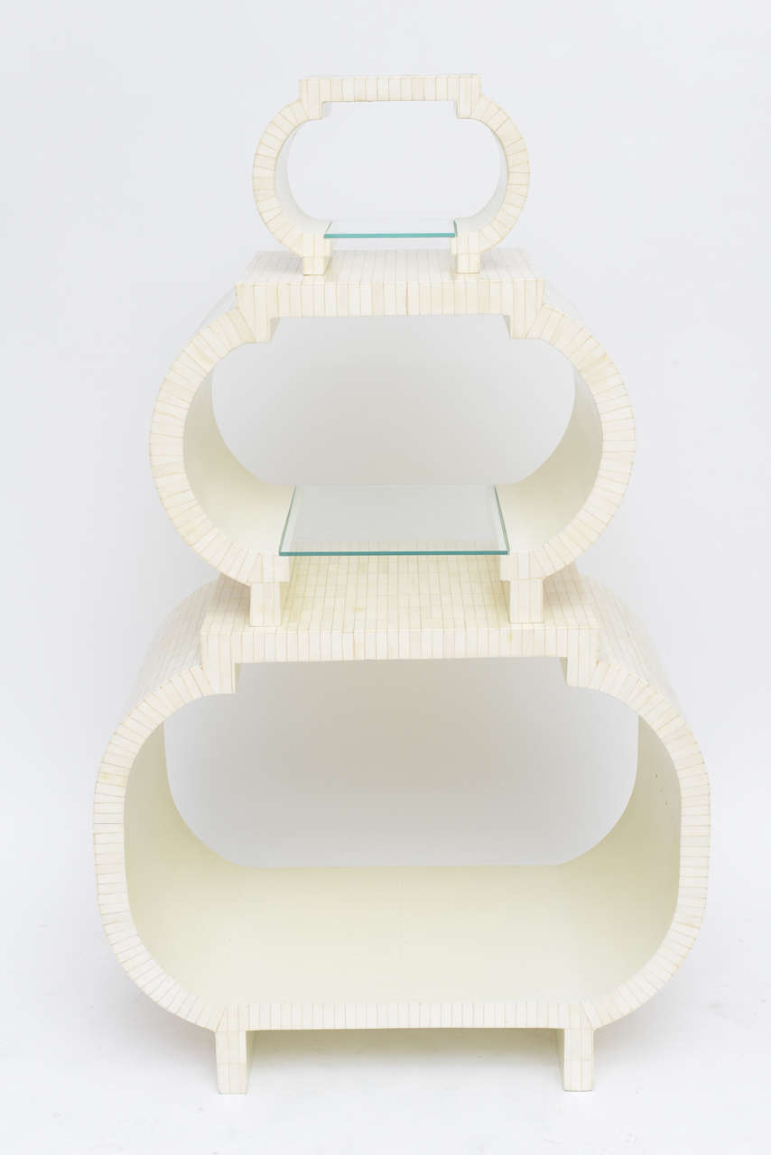 Tessellated Bone Étagère or Nesting Tables by Enrique Garcel 2