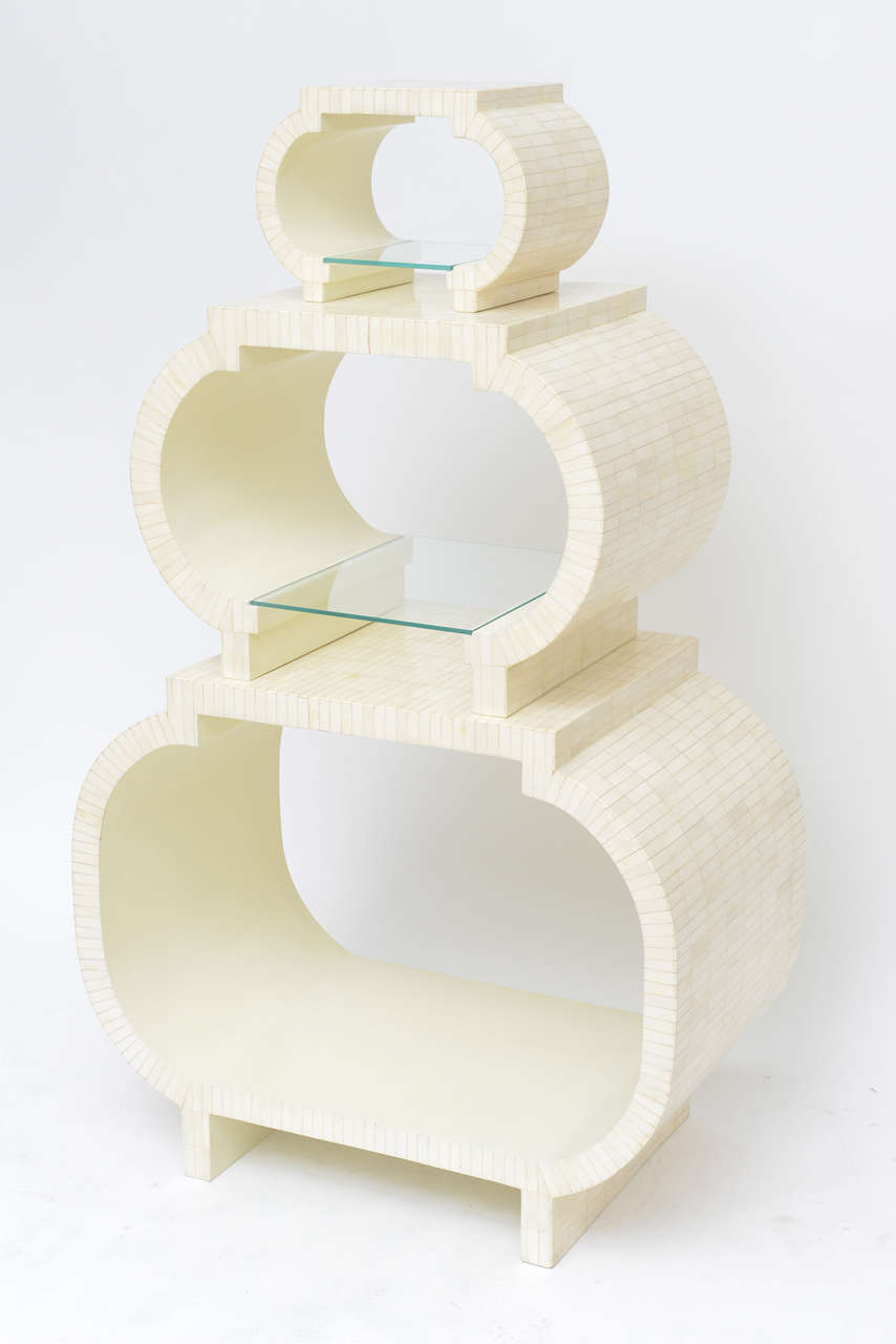 Tessellated Bone Étagère or Nesting Tables by Enrique Garcel 3