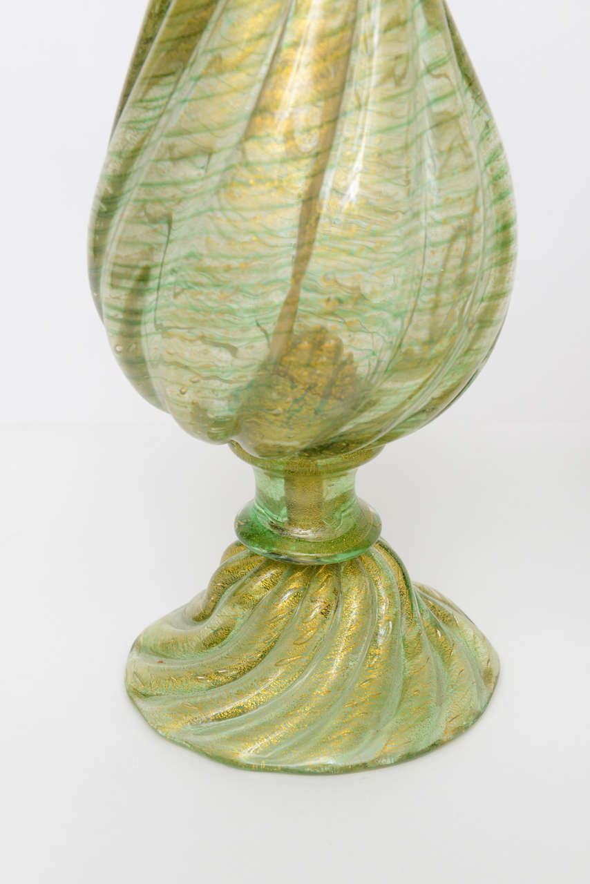 Pair of barovier e toso murano glass lamps at 1stdibs for Barovier e toso