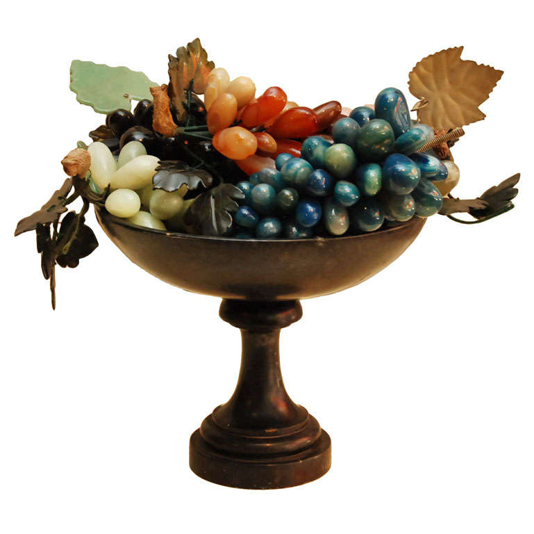 Iron Compote with Marble Fruit