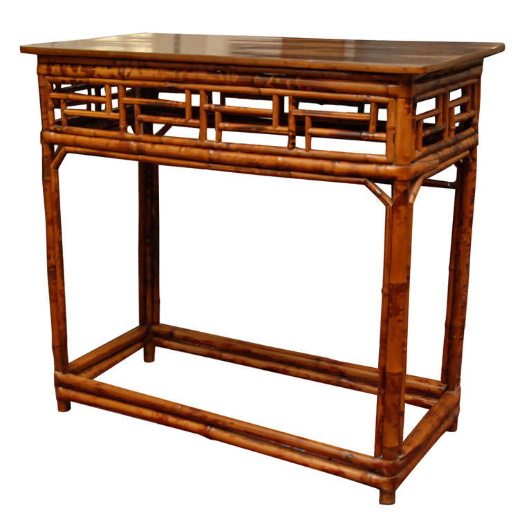 Chinese Bamboo Console Table 1