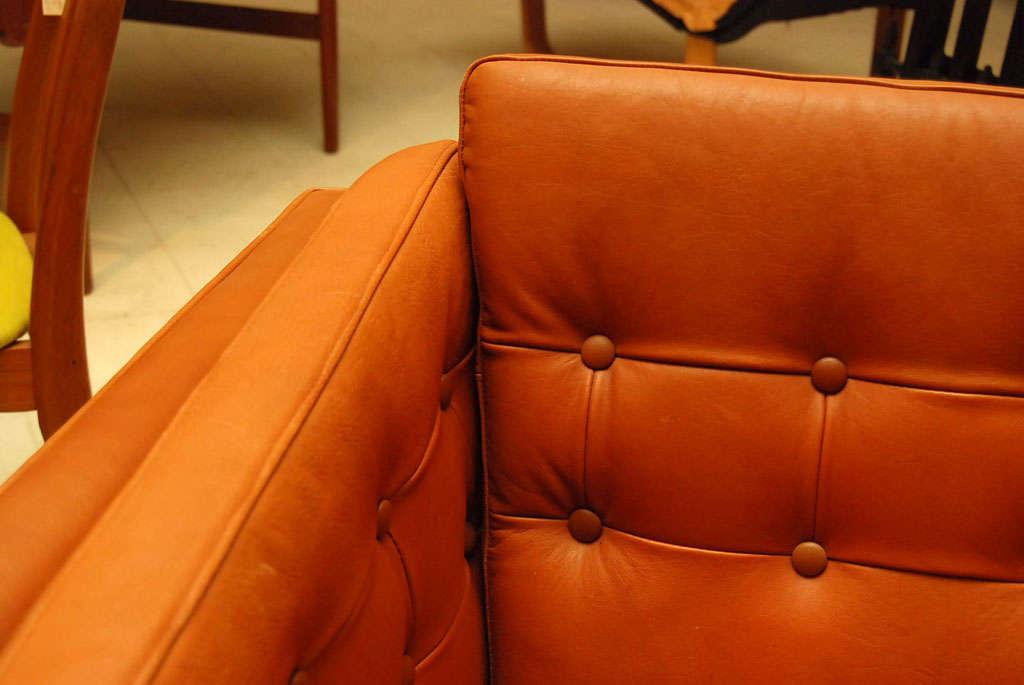 light brown leather sofa at 1stdibs