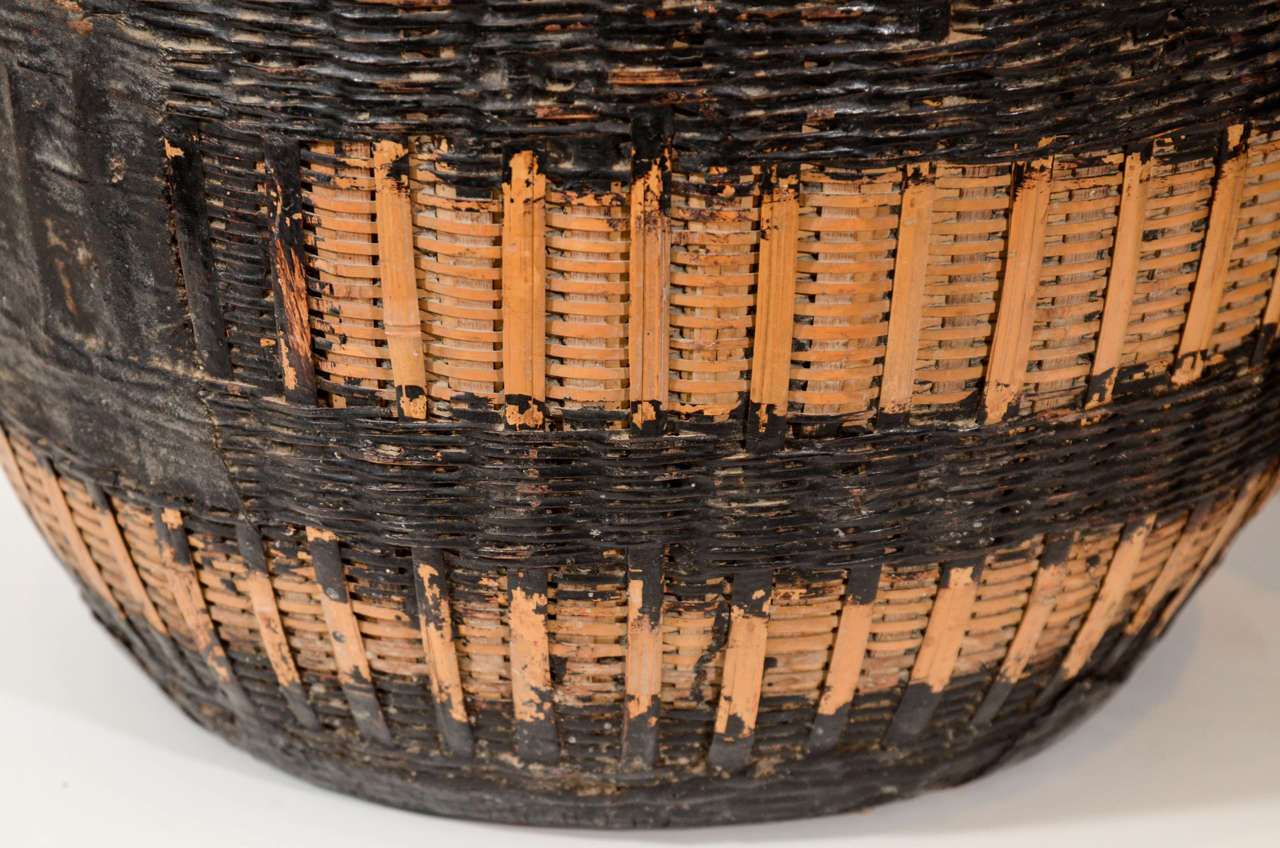 Willow Antique Chinese Woven Food Baskets For Sale