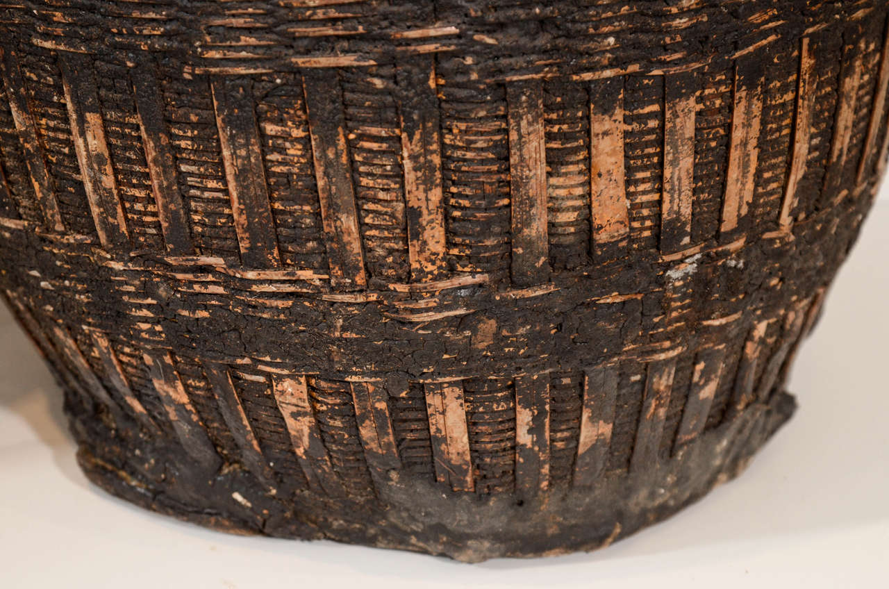 Antique Chinese Woven Food Baskets For Sale 1