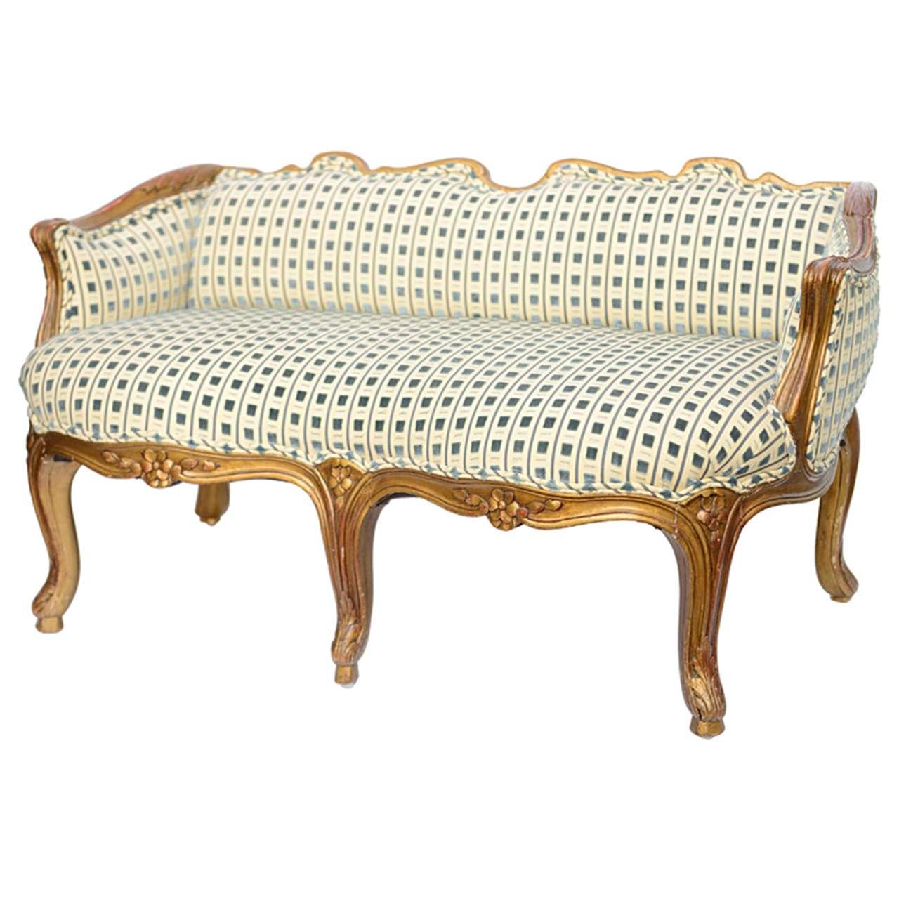 Late 19th Century Louis XV Style Miniature Sofa