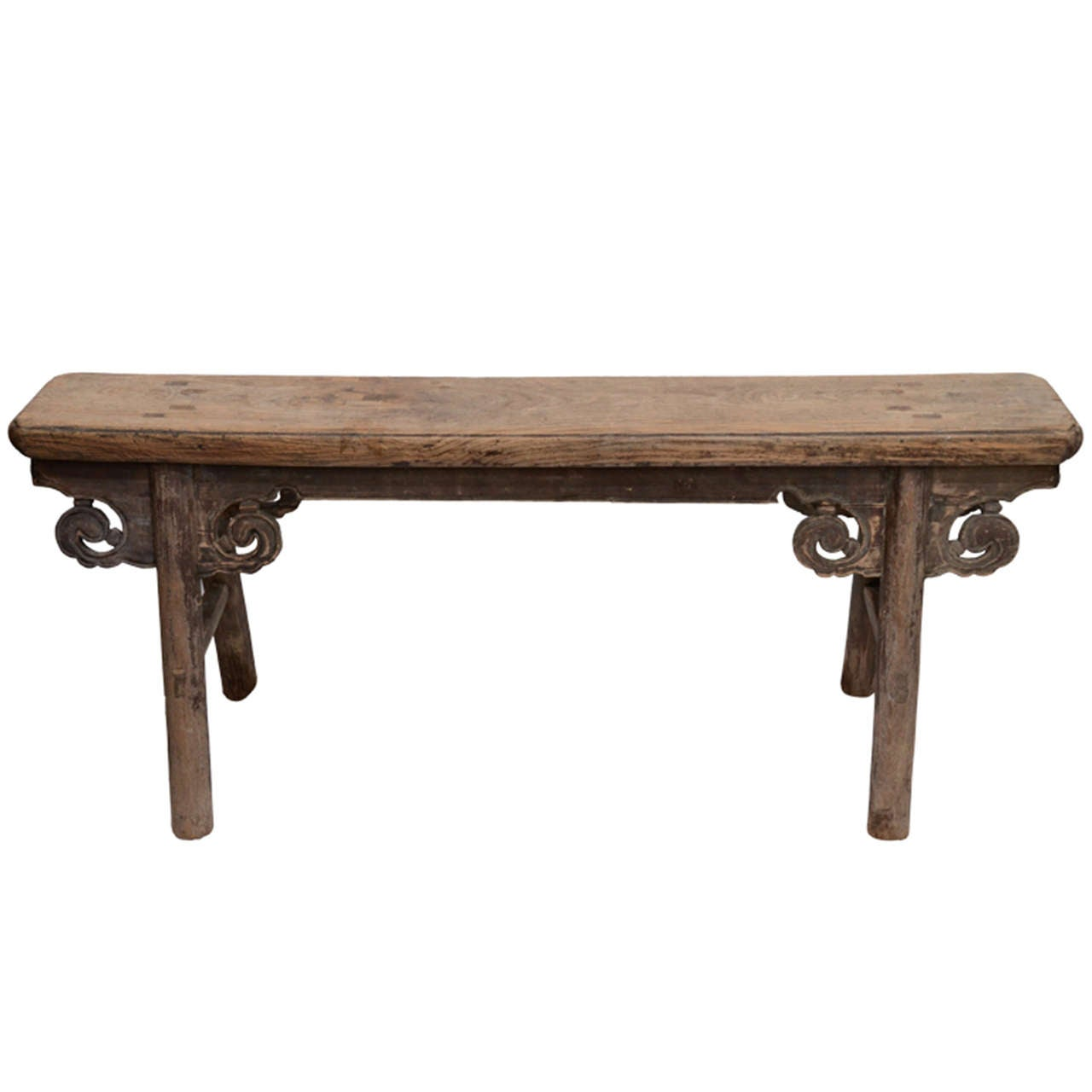19thc Chinese Tapered Bench At 1stdibs