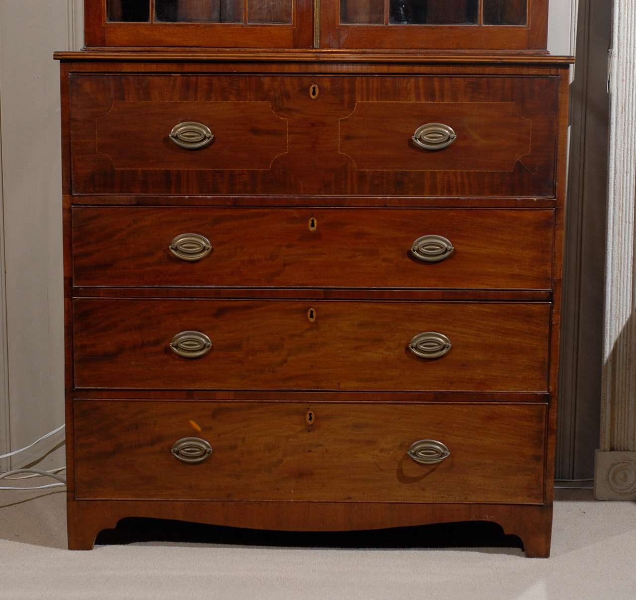 bureau book case secr taire for sale at 1stdibs. Black Bedroom Furniture Sets. Home Design Ideas