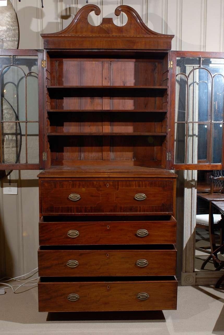 bureau book case secr taire for sale at 1stdibs. Black Bedroom Furniture Sets. Home Design Ideas