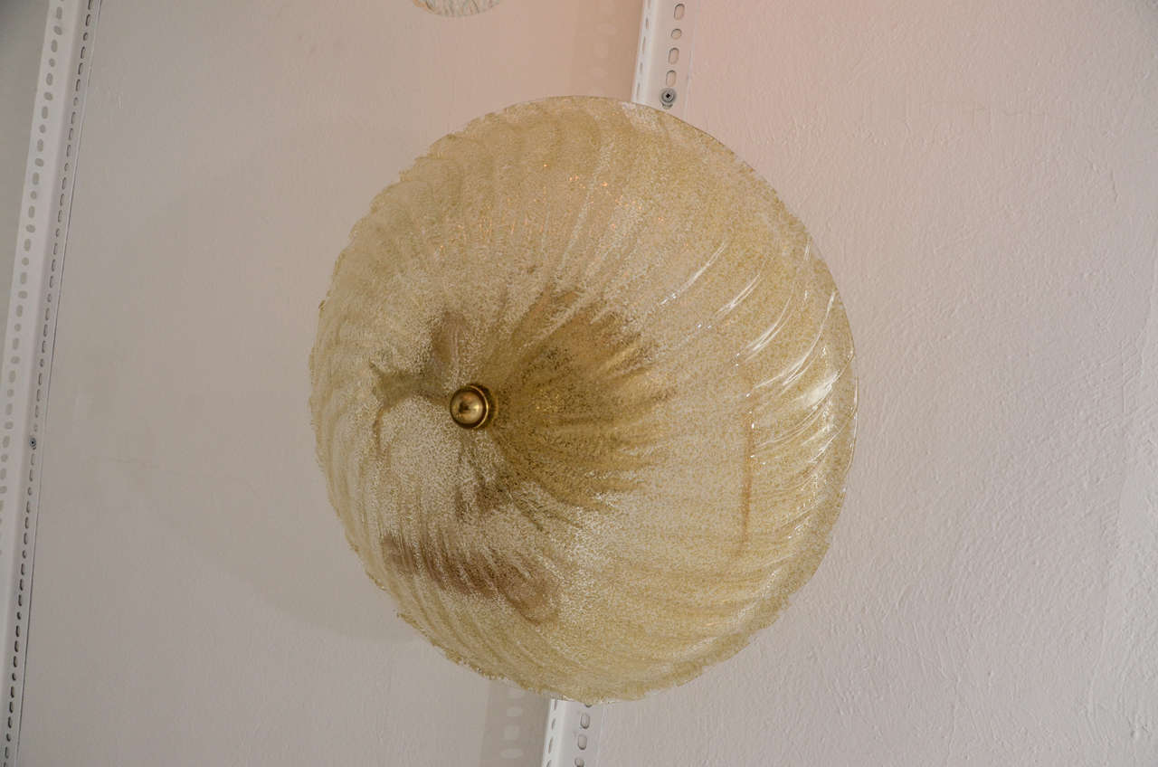 Mid-Century Modern Champagne Ceiling Mount Fixture For Sale