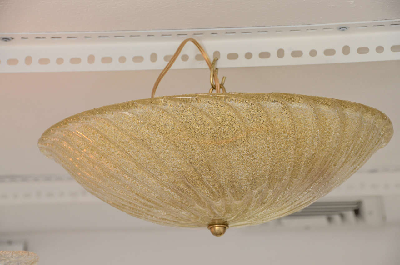 Glass Champagne Ceiling Mount Fixture For Sale