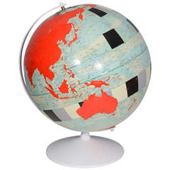 Vintage, Hand-Painted Globe by Pop Artist, Dylan Egon