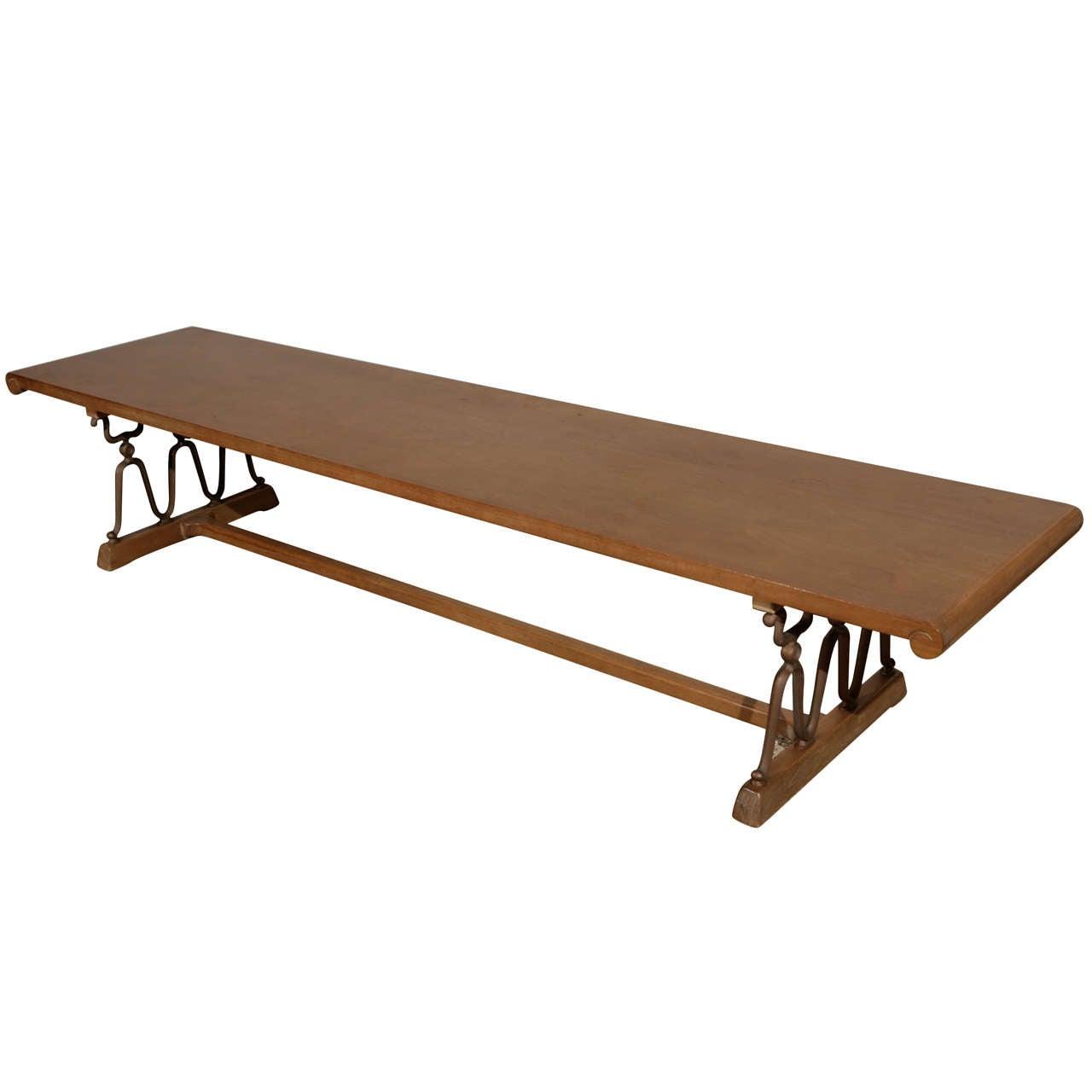 John Van Koert For Drexel Coffee Table Bench