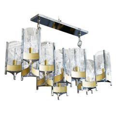 Large Twelve-Light Sciolari Chandelier
