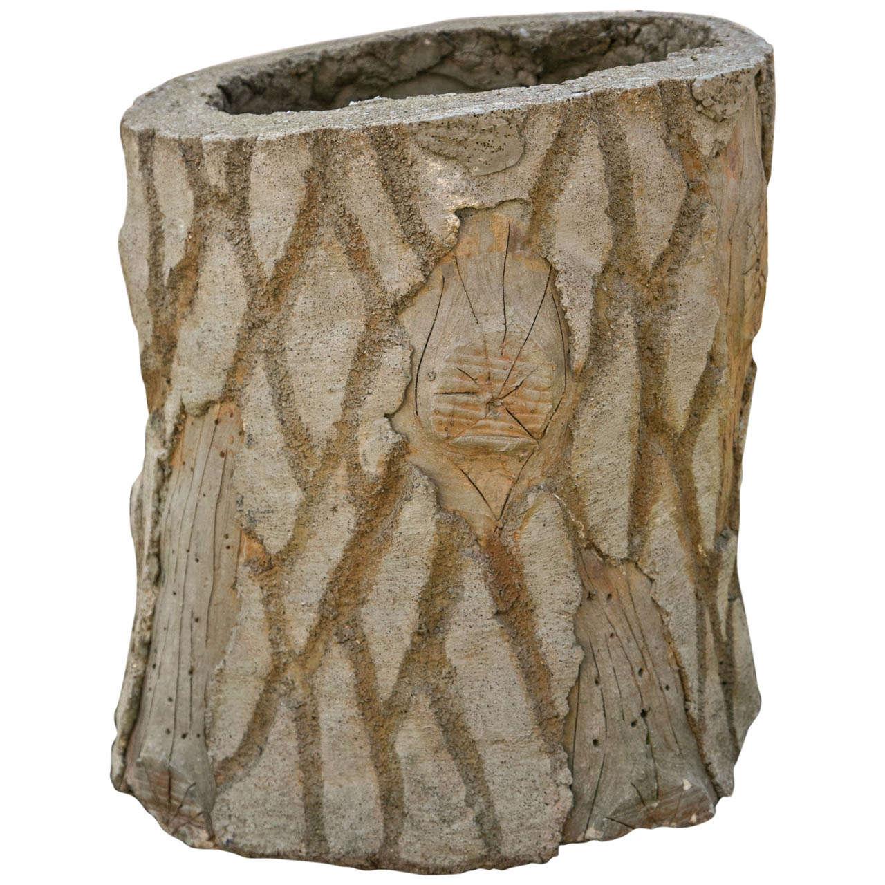 Faux Bois Tree Trunk Planter