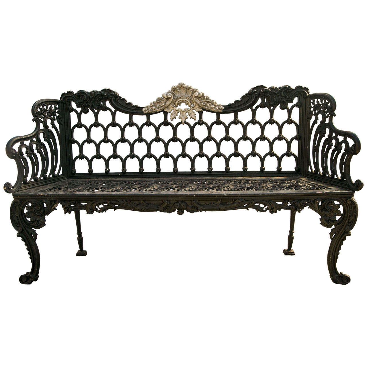 Cast Of Benched : Scottish cast iron bench by carron at stdibs