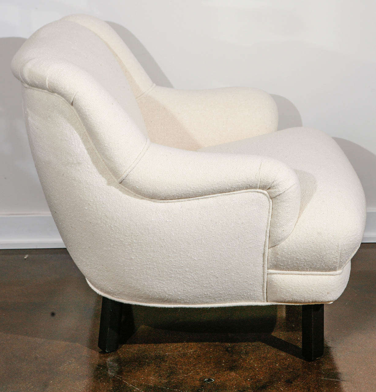 Pair Of Custom Club Chairs Designed By Paul Laszlo At 1stdibs