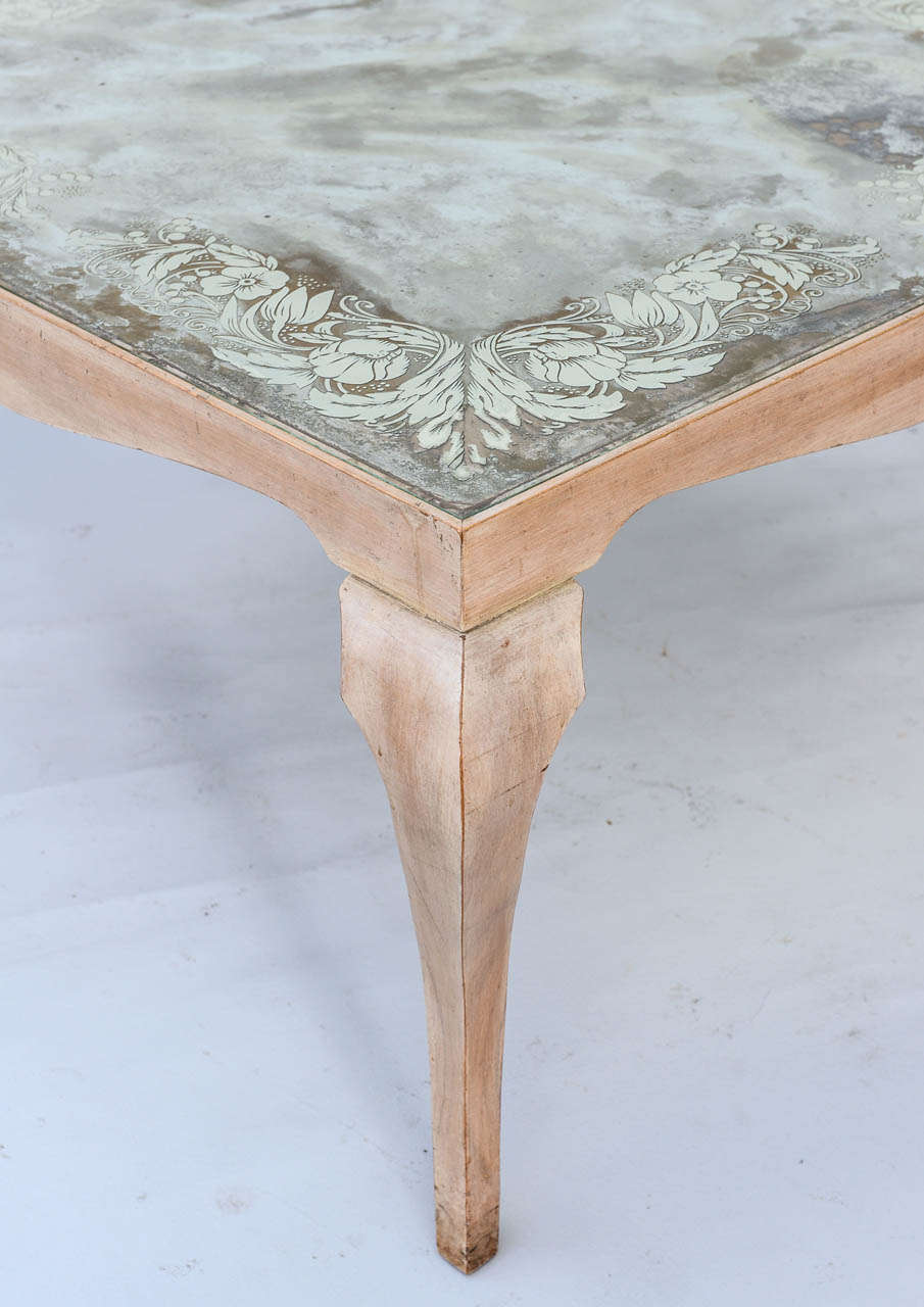 Italian Eglomise Coffee Table For Sale
