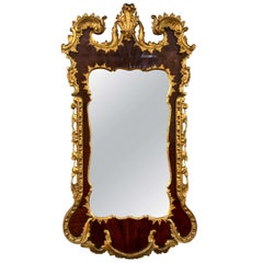 George III Parcel-Gilt Mahogany Mirror