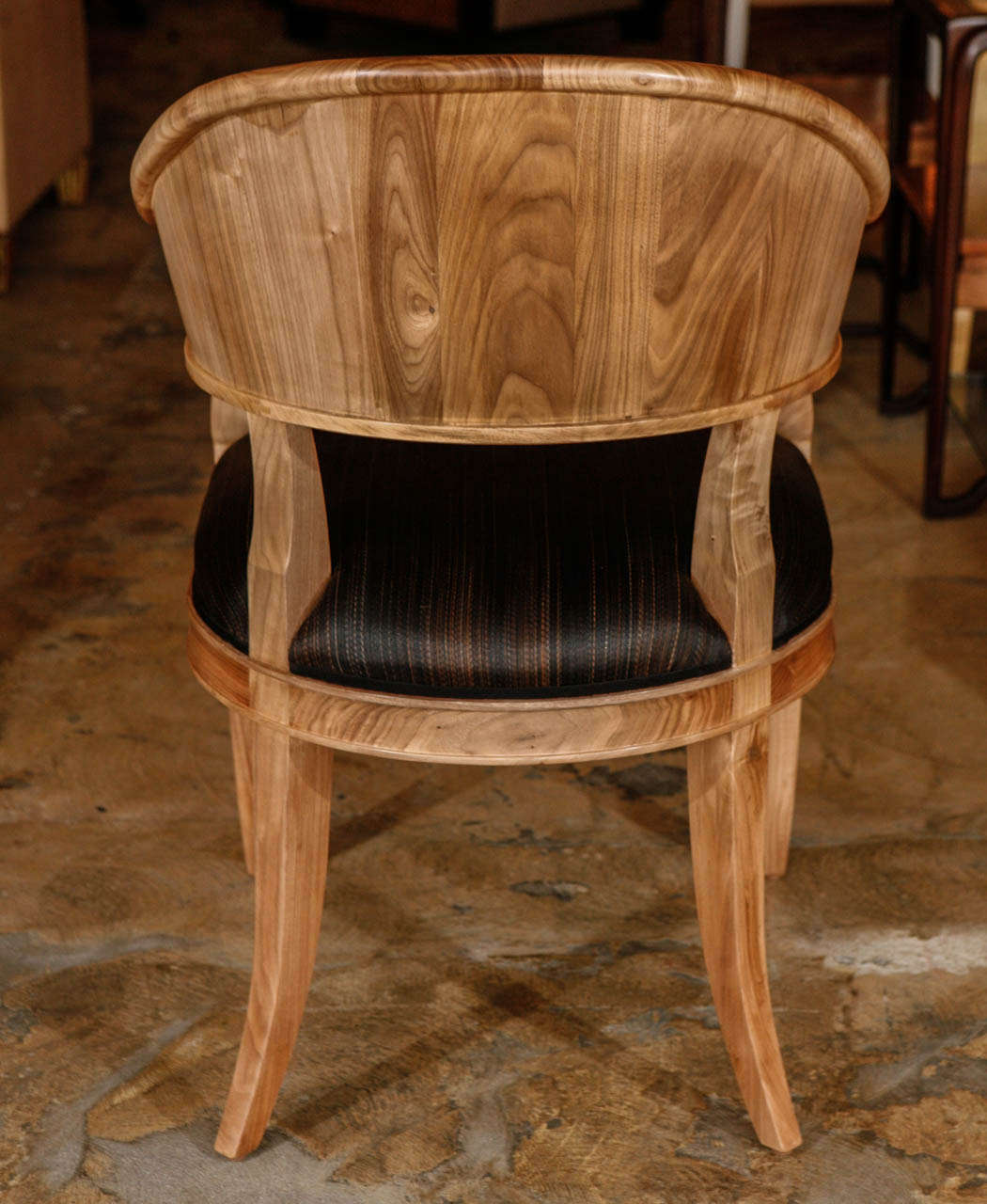 Bleached Walnut French Art Deco Style Chairs For Sale 2