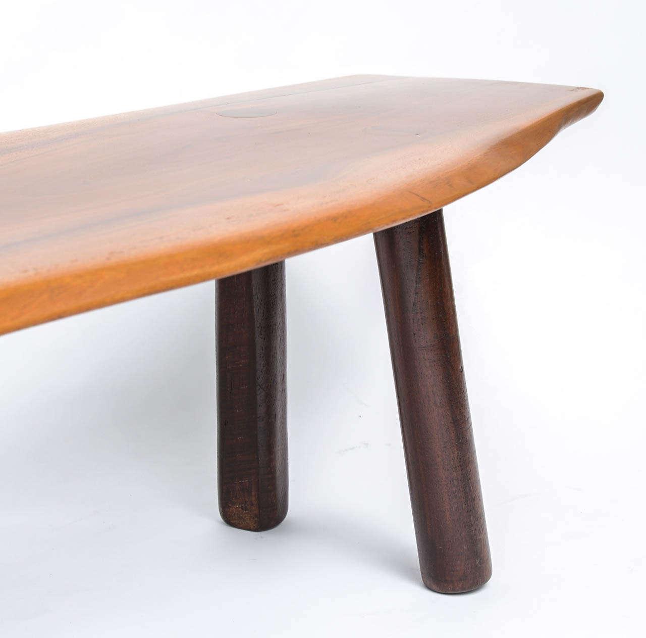 Mid Century Walnut Live Edge Coffee Table: Mid-Century Free-Edge Walnut Coffee Table At 1stdibs