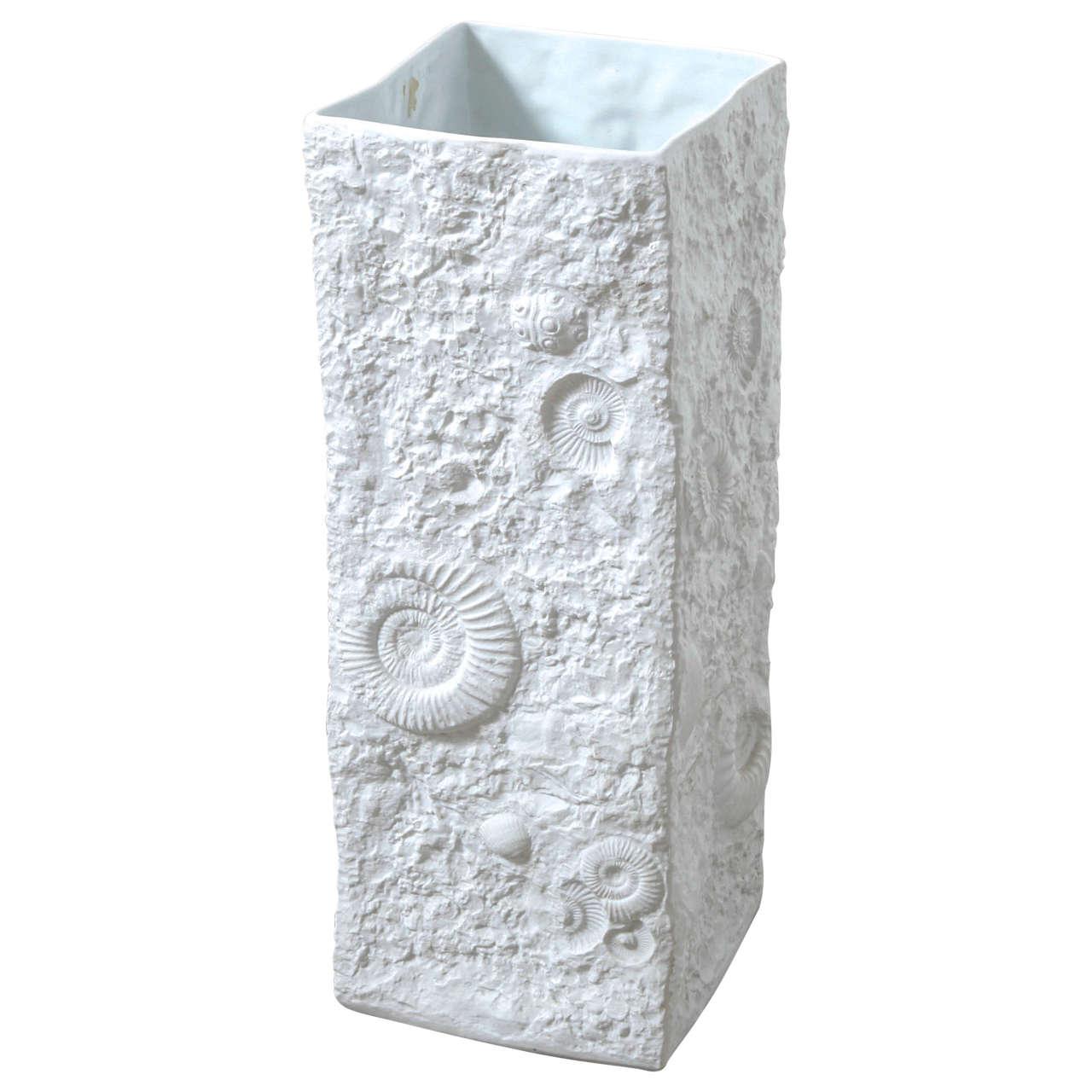 Ammonite Relief Large Porcelain Floor Vase At 1stdibs